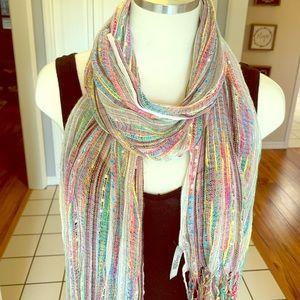 Multi-color sparkly scarf